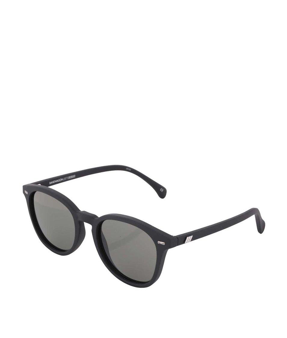 Černé matné unisex sluneční brýle Le Specs Bandwagon