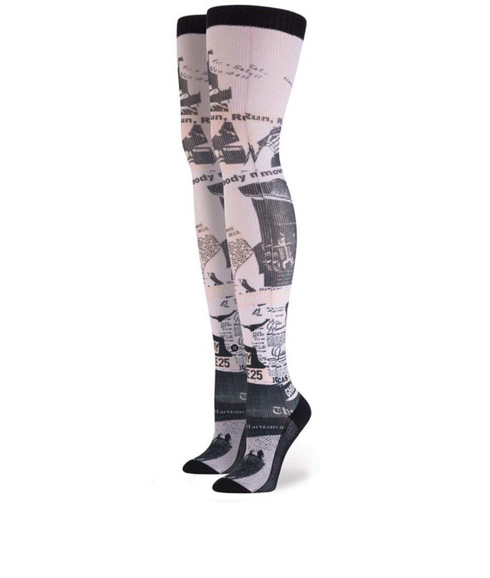 Černo-růžové dámské vzorované nadkolenky Stance Most Wanted Thigh High