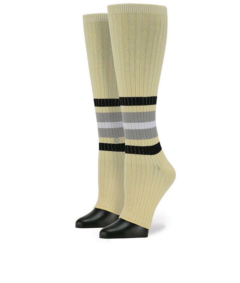 Žluté dámské návleky s proužky Stance Toeless