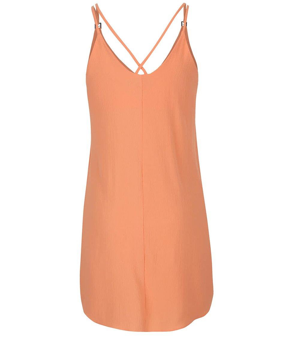 Meruňkové krepové šaty Dorothy Perkins