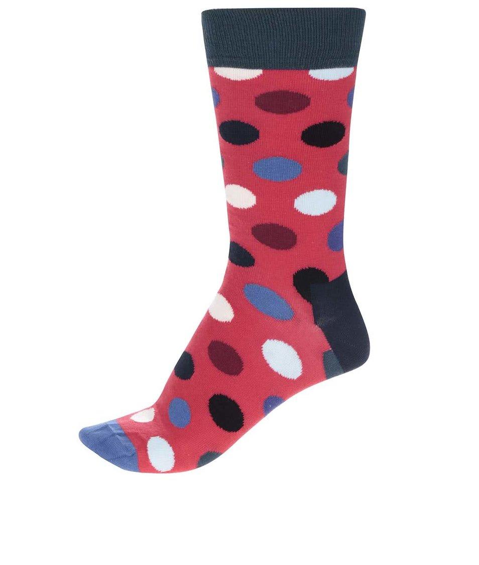 Modro-červené unisex ponožky Happy Socks Big Dot