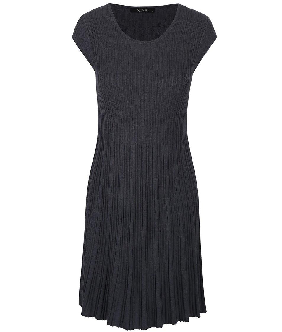 Tmavě šedé šaty VILA Now