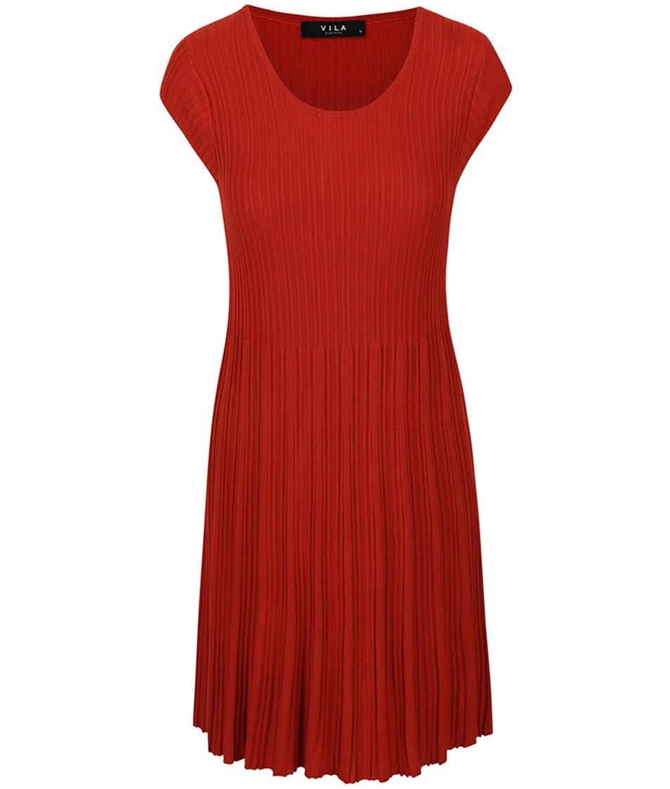 Cihlové šaty VILA Now