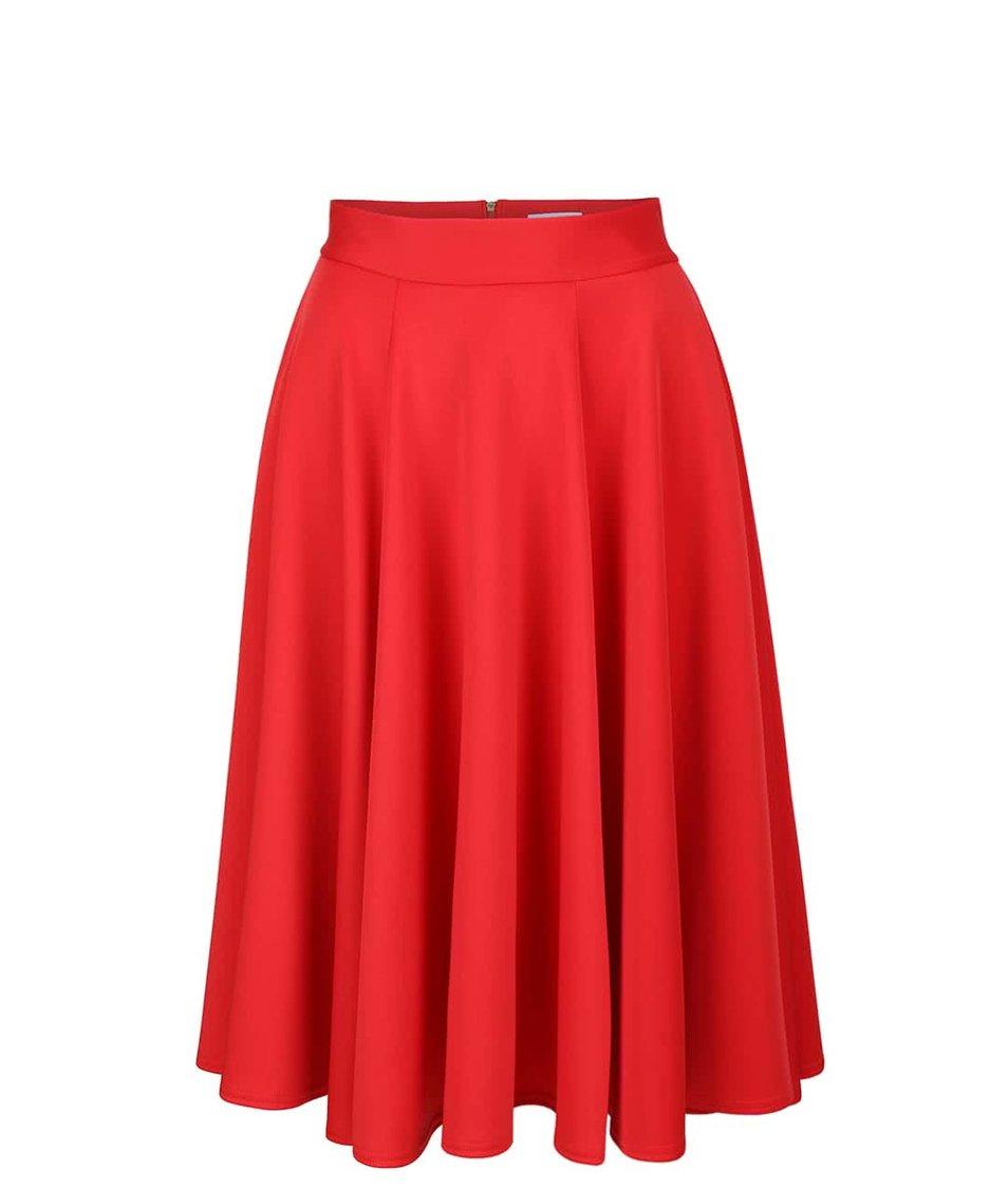 Červená midi sukně Closet