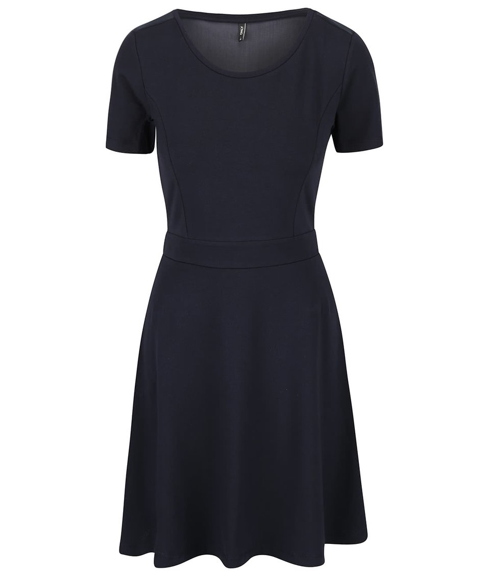 Tmavě modré šaty se síťovanými zády ONLY Niella
