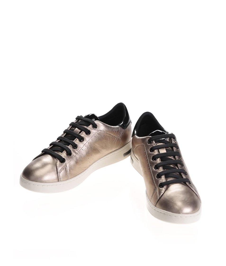 ... Dámské kožené tenisky ve zlaté barvě s černými detaily Geox Jaysen ... 6c31cec78d