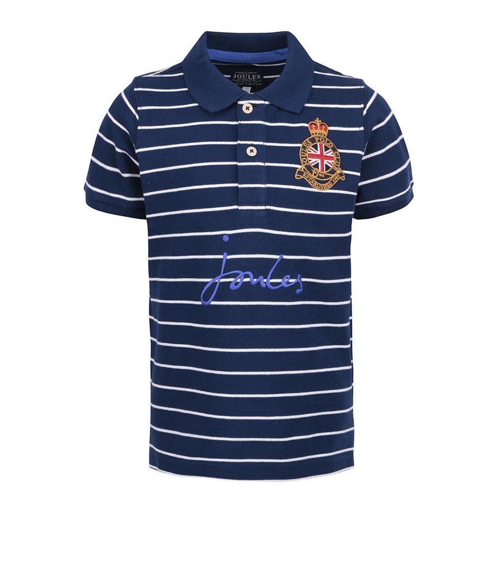 Modré pruhované klučičí polo triko Tom Joule Harry