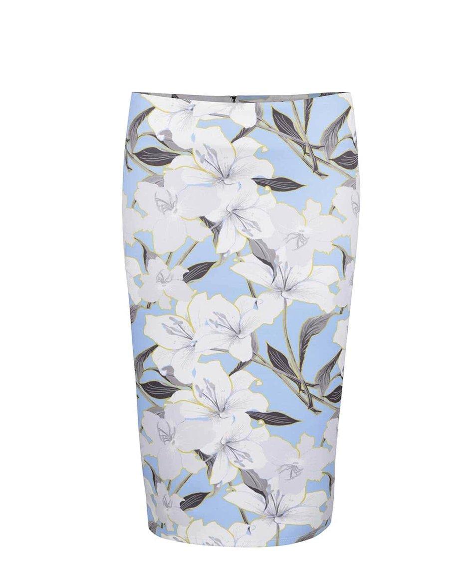Modrá květovaná sukně Miss Selfridge