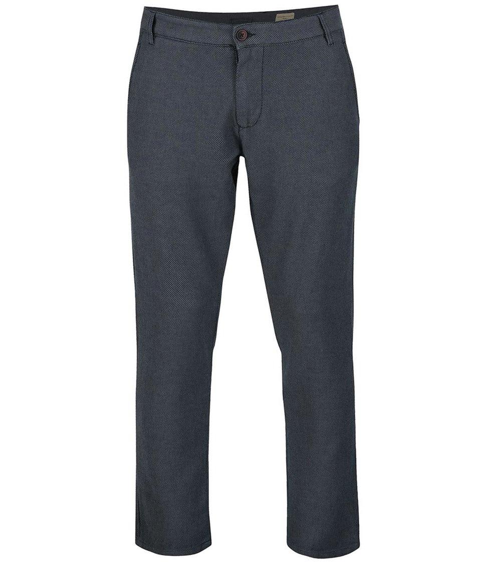 Tmavě modré vzorované kalhoty Selected Homme Phil