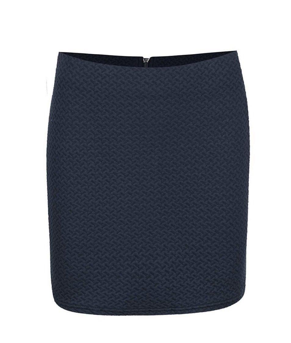 Tmavě modrá elastická sukně VILA Naja