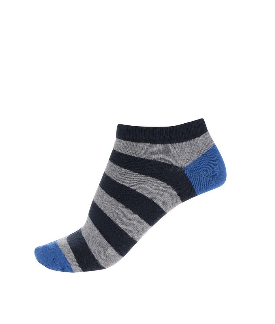 Šedé pruhované kotníkové ponožky Jack & Jones Belair