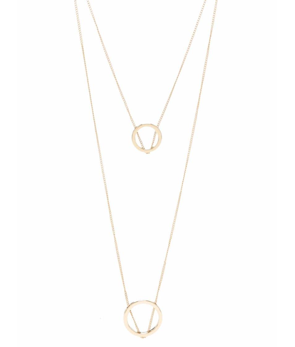 Dlouhý kaskádovitý náhrdelník ve zlaté barvě Pieces Polly