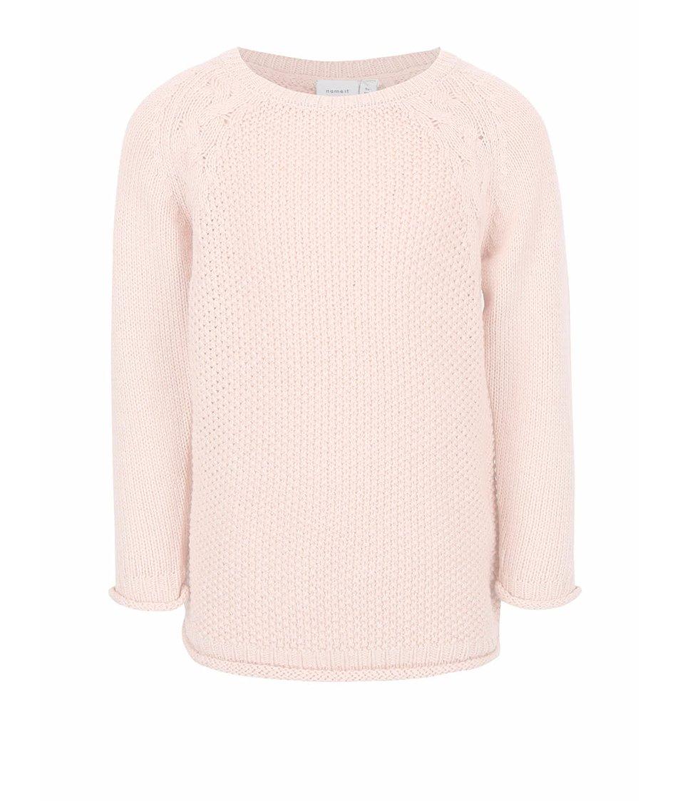 Světle růžový holčičí svetr name it Barina