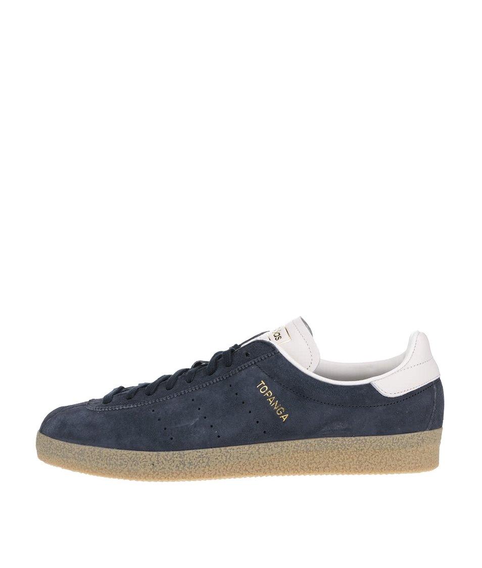 Tmavě modré pánské semišové tenisky adidas Originals Topanga Clean