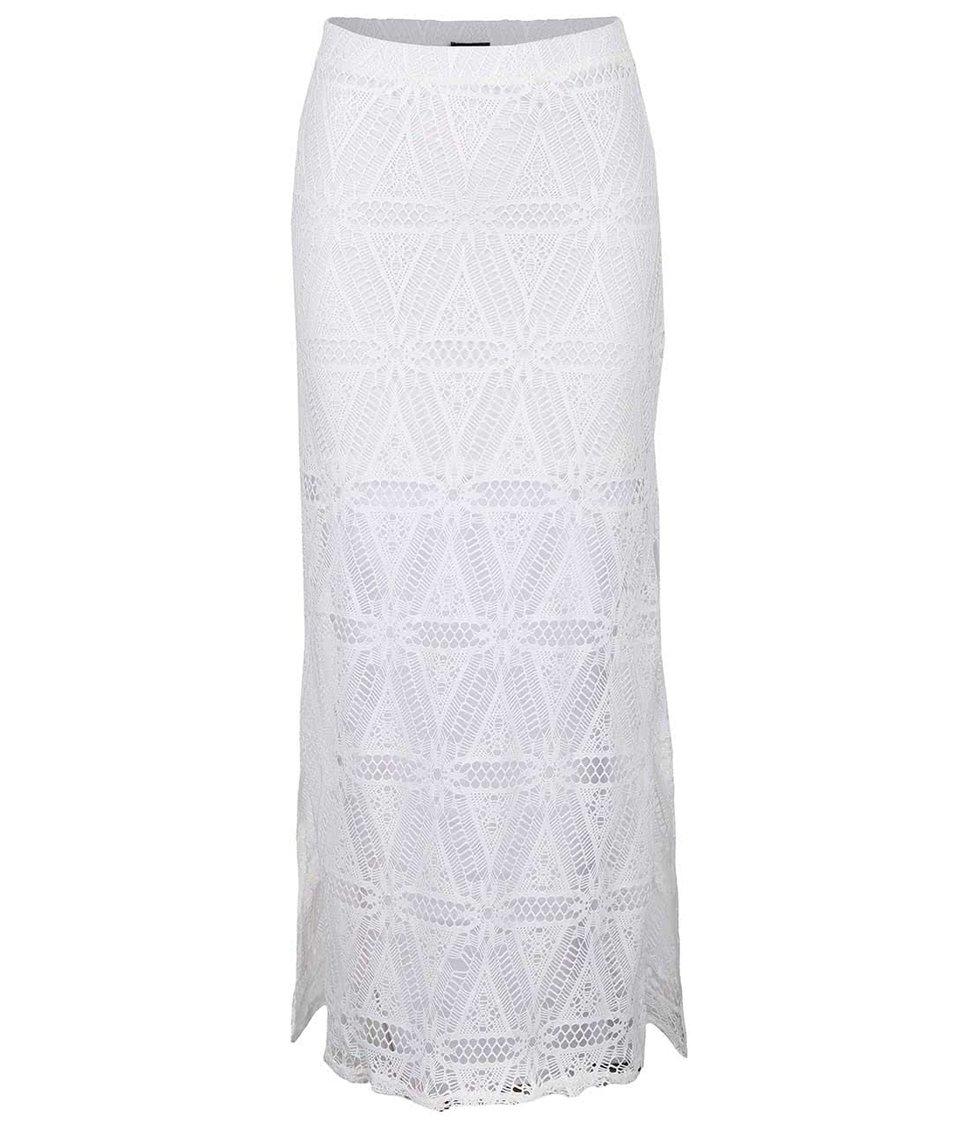 Bílá krajkovaná maxi sukně TALLY WEiJL