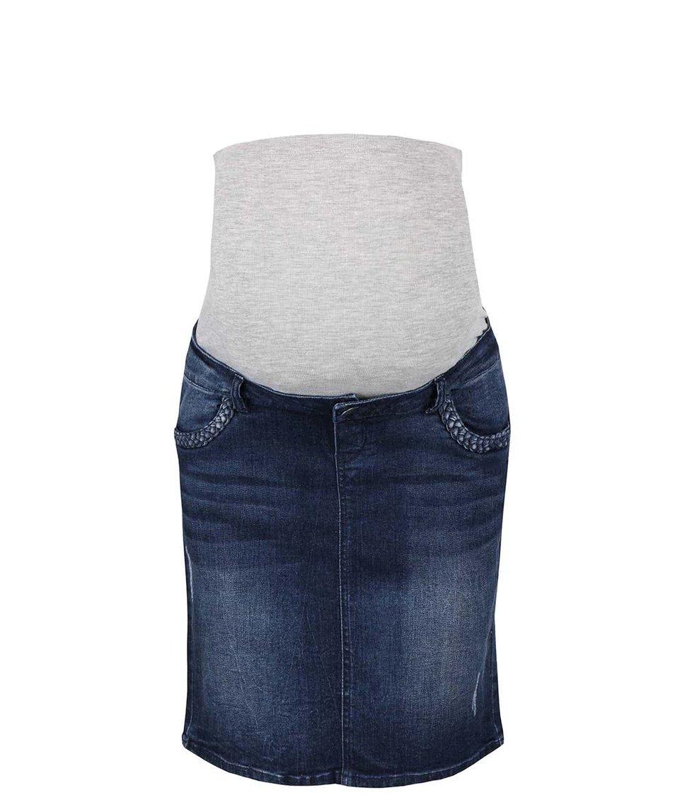 Modrá džínová těhotenská sukně Mama.licious Frey