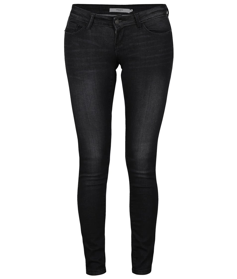 Černé super slim fit džíny Vero Moda One