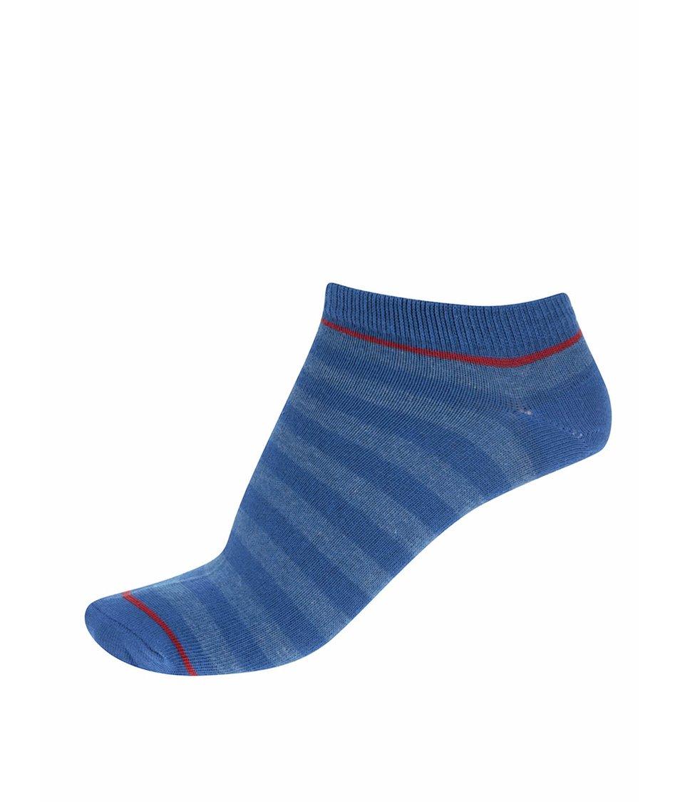 Modré ponožky s červeným pruhem Jack & Jones Plain