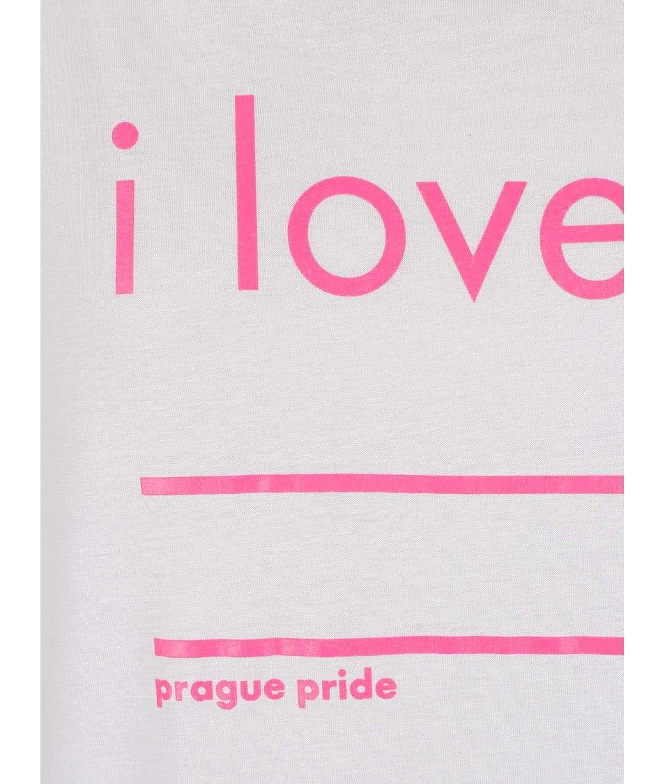 """""""Dobré"""" šedé dámské tričko s potiskem pro Prague Pride"""