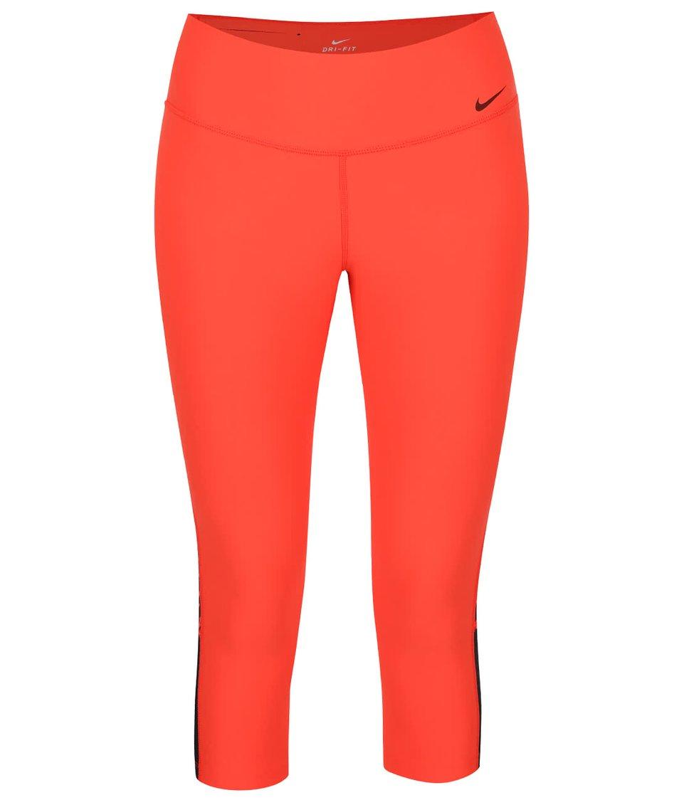 Červené dámské 3/4 legíny Nike Power Legend