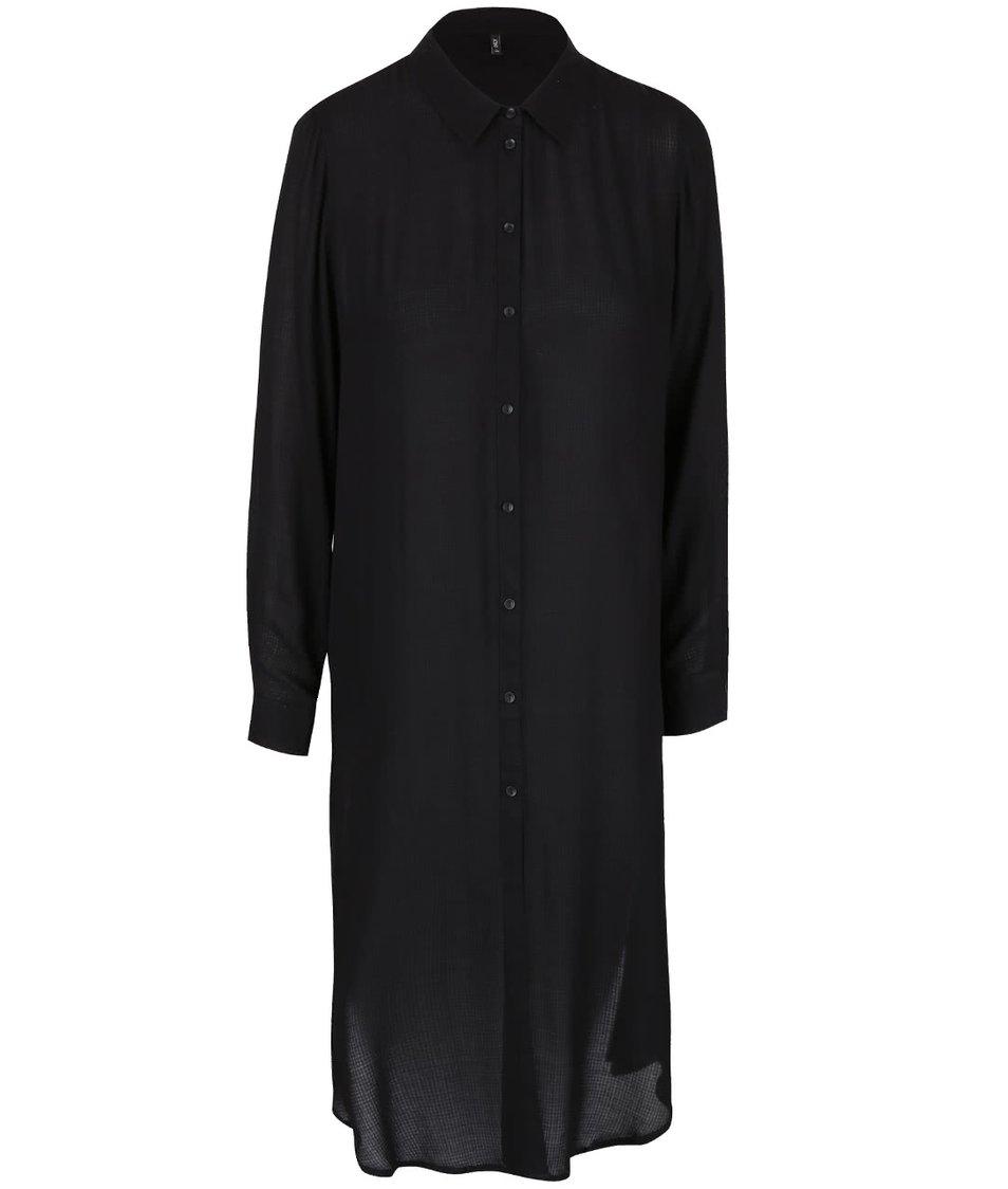 Černá dlouhá košile s výstřihem na zádech ONLY Poet Radmila