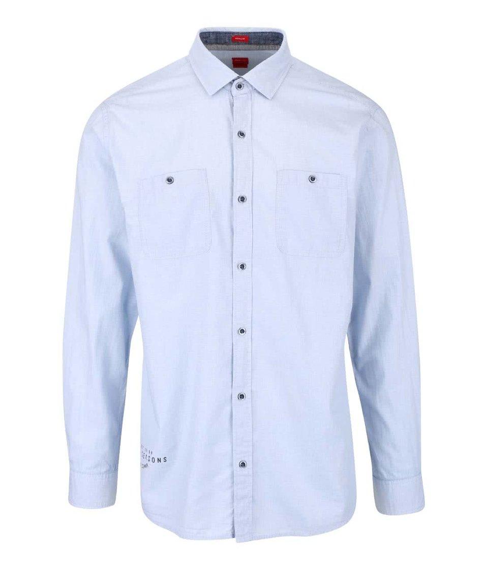 Modrá pánská neformální košile s kapsami s.Oliver