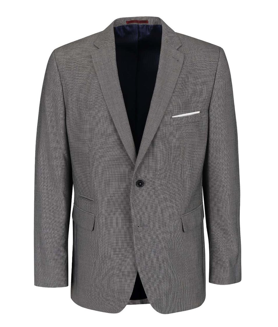 Šedé tailored fit sako Burton Menswear London