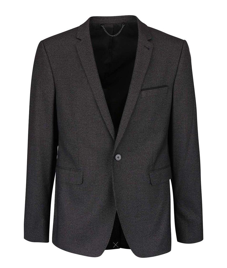 Tmavě šedé skinny fit sako Burton Menswear London
