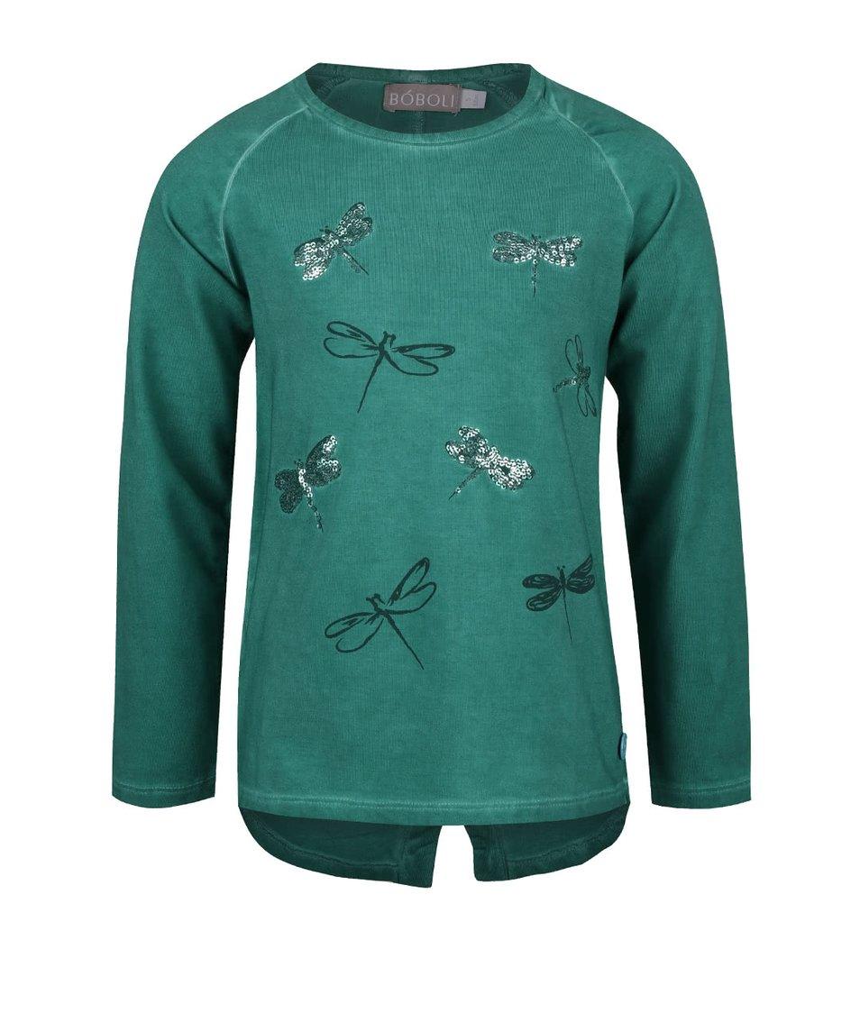 Zelené holčičí triko s vážkami Bóboli