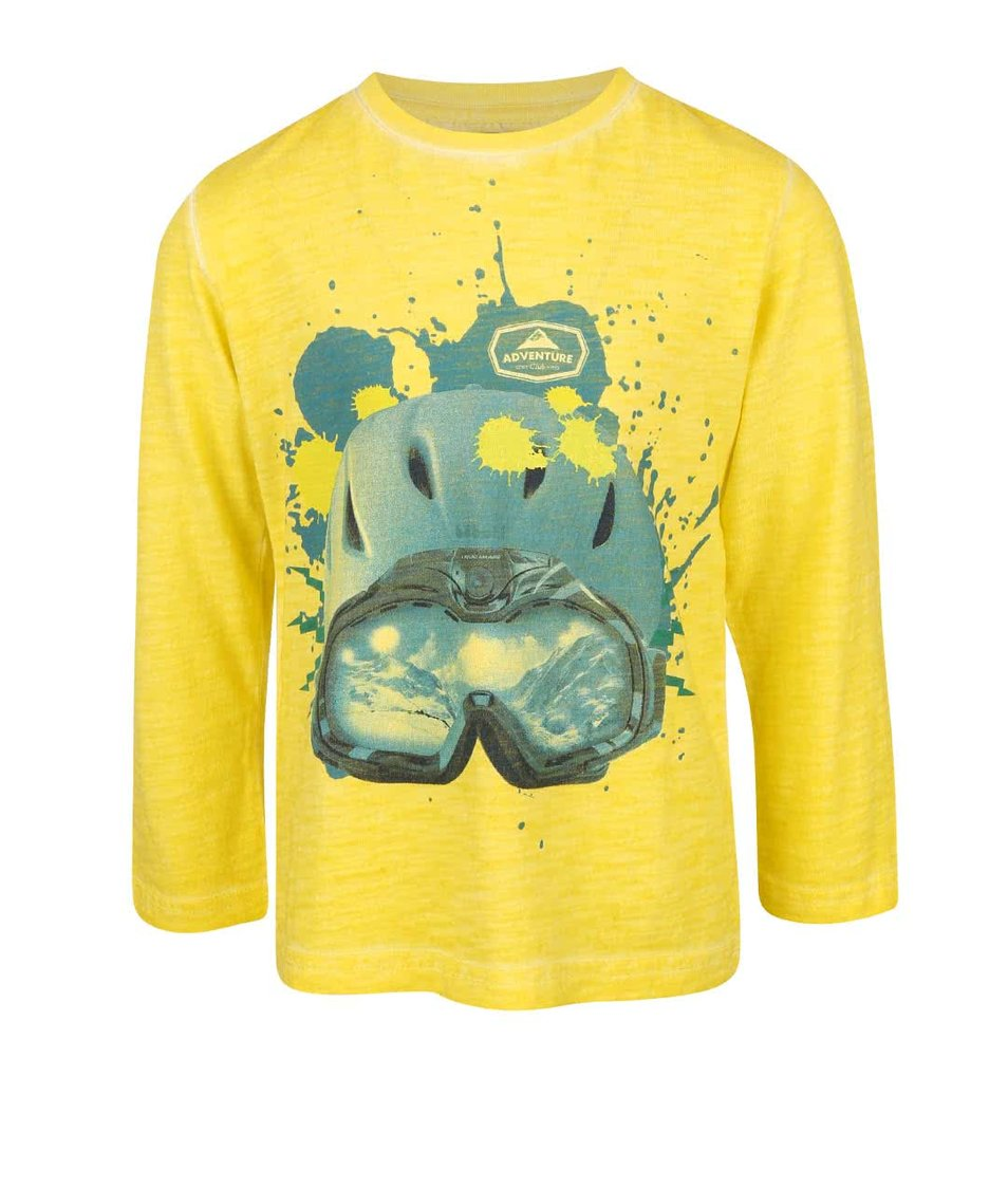 Žluté klučičí triko s potiskem Bóboli