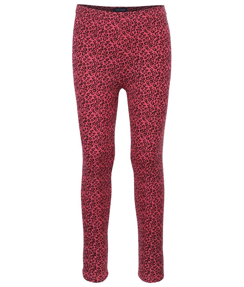 Růžové holčičí legíny s leopardím vzorem Blue Seven