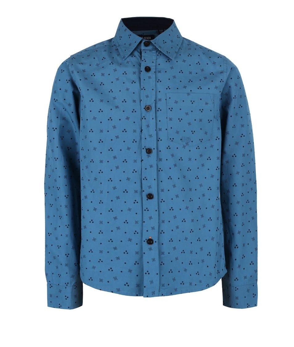 Modrá klučičí vzorovaná košile Blue Seven