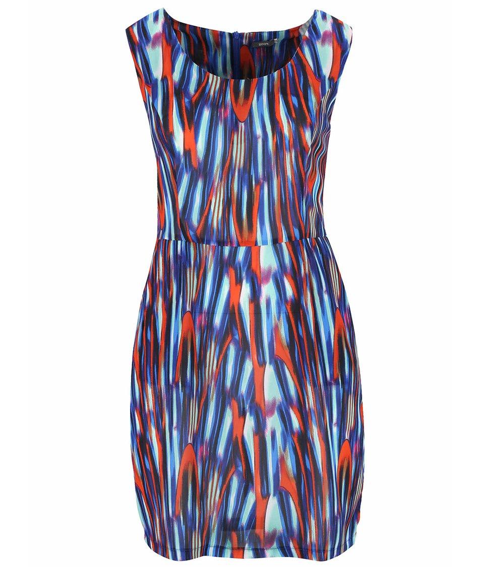Modré žíhané šaty bez rukávů ZOOT Now