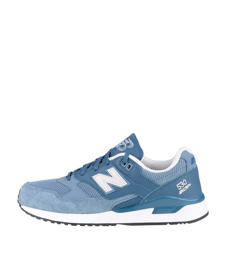 Světle modré pánské kožené tenisky New Balance