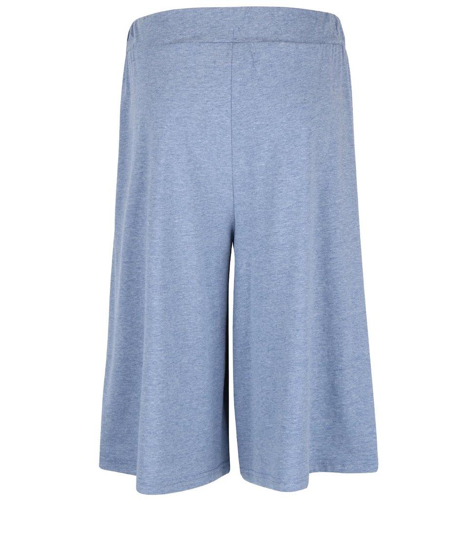 Světle modré žíhané culottes kalhoty Vero Moda Evie