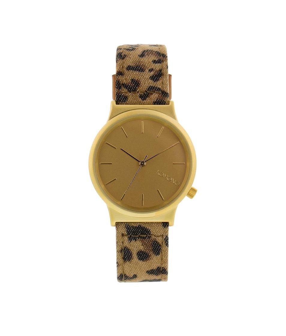 Unisex hodinky Komono Wizard Print Leopard