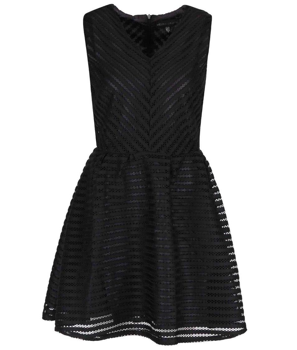 Černé šaty s průhlednou vrchní částí Mela London