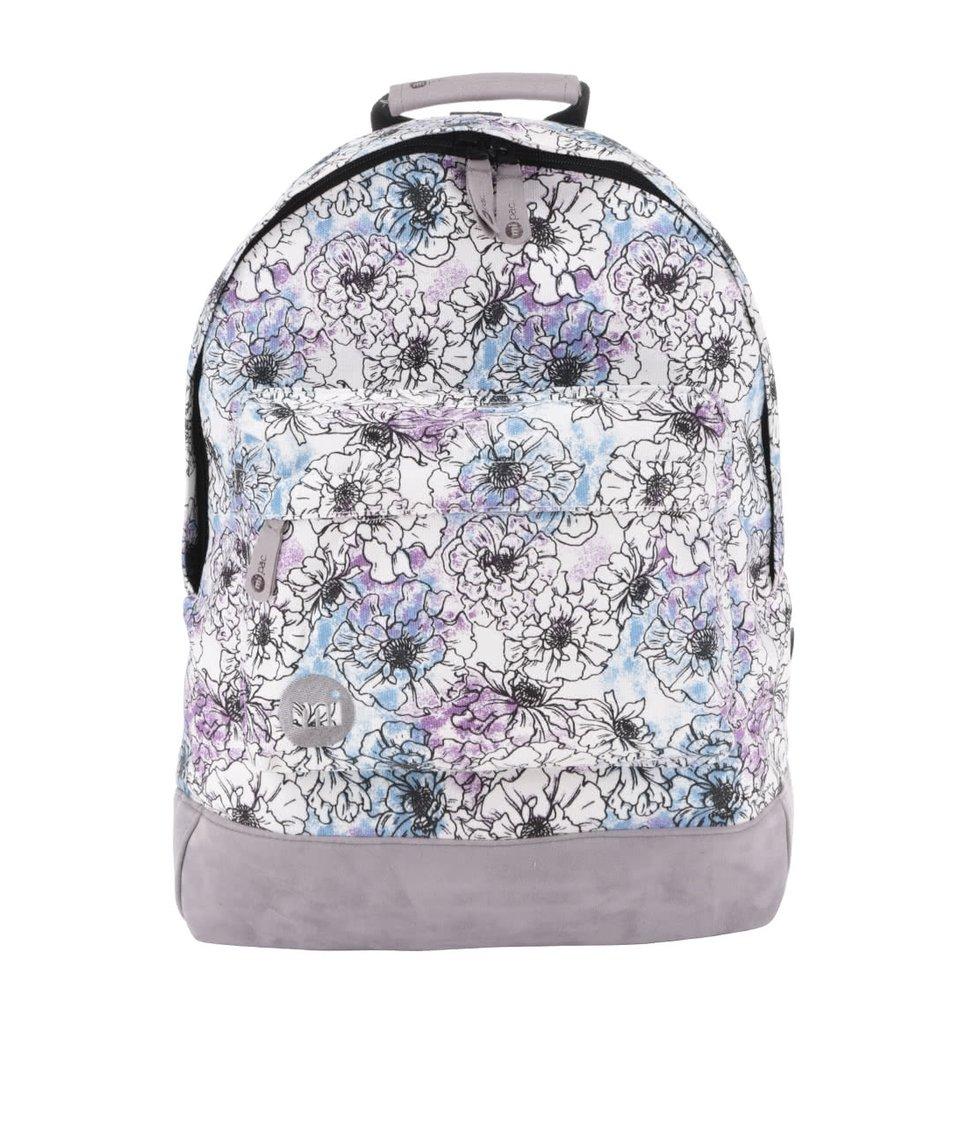 Krémový dámský batoh s potiskem květin Mi-Pac Unfinished Floral