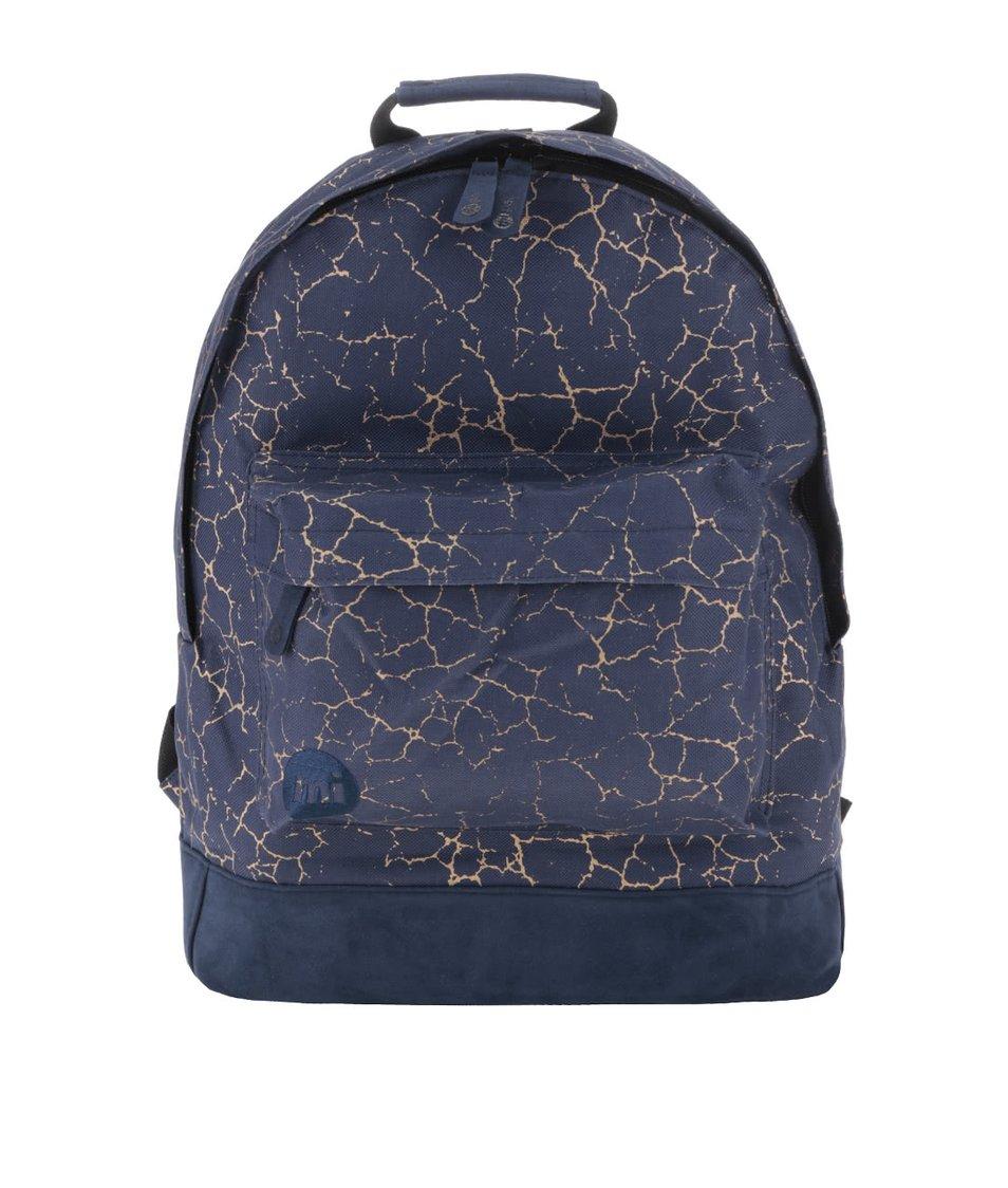 Modrý unisex batoh se vzorem ve zlaté barvě Mi-Pac Nordic