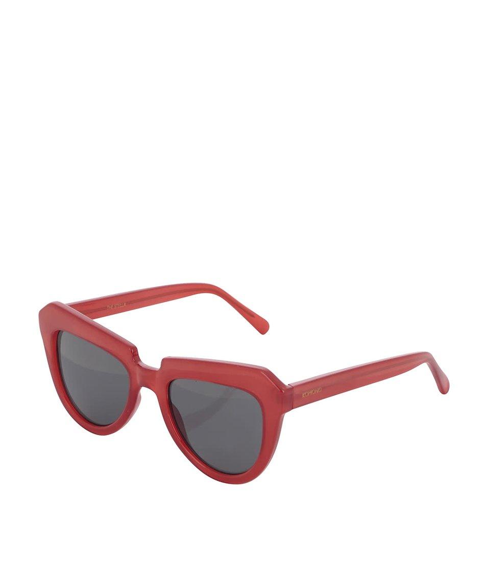 Červené dámské sluneční brýle Komono Stella