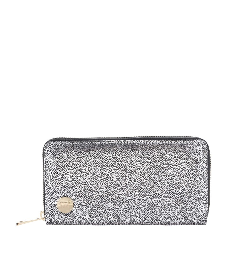 Větší peněženka ve stříbrné barvě Mi-Pac Zip