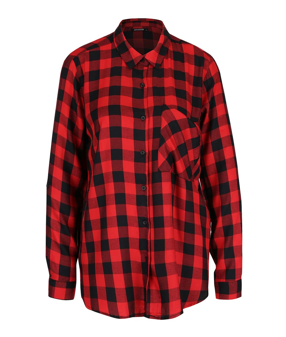 Červeno-černá kostkovaná košile Haily´s Alina