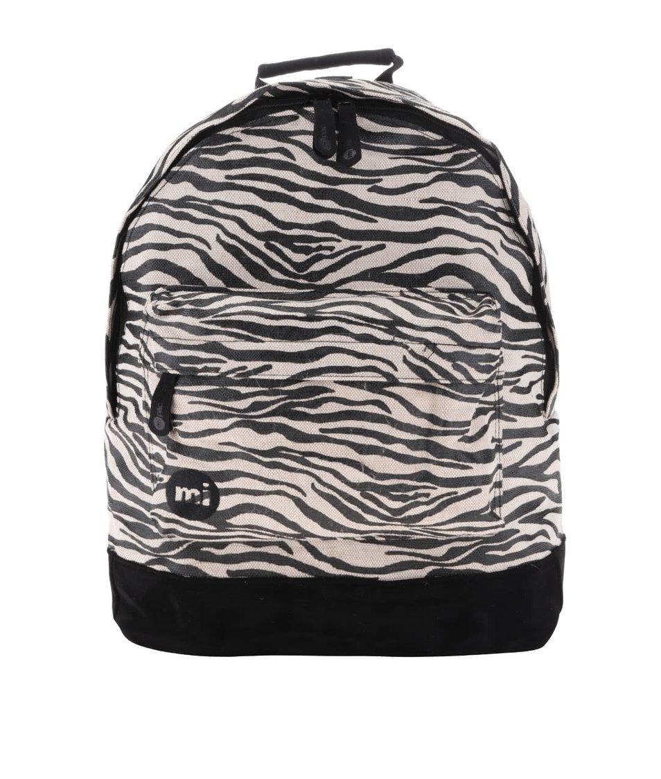 Béžovo-černý dámský vzorovaný batoh Mi-Pac Canvas Zebra