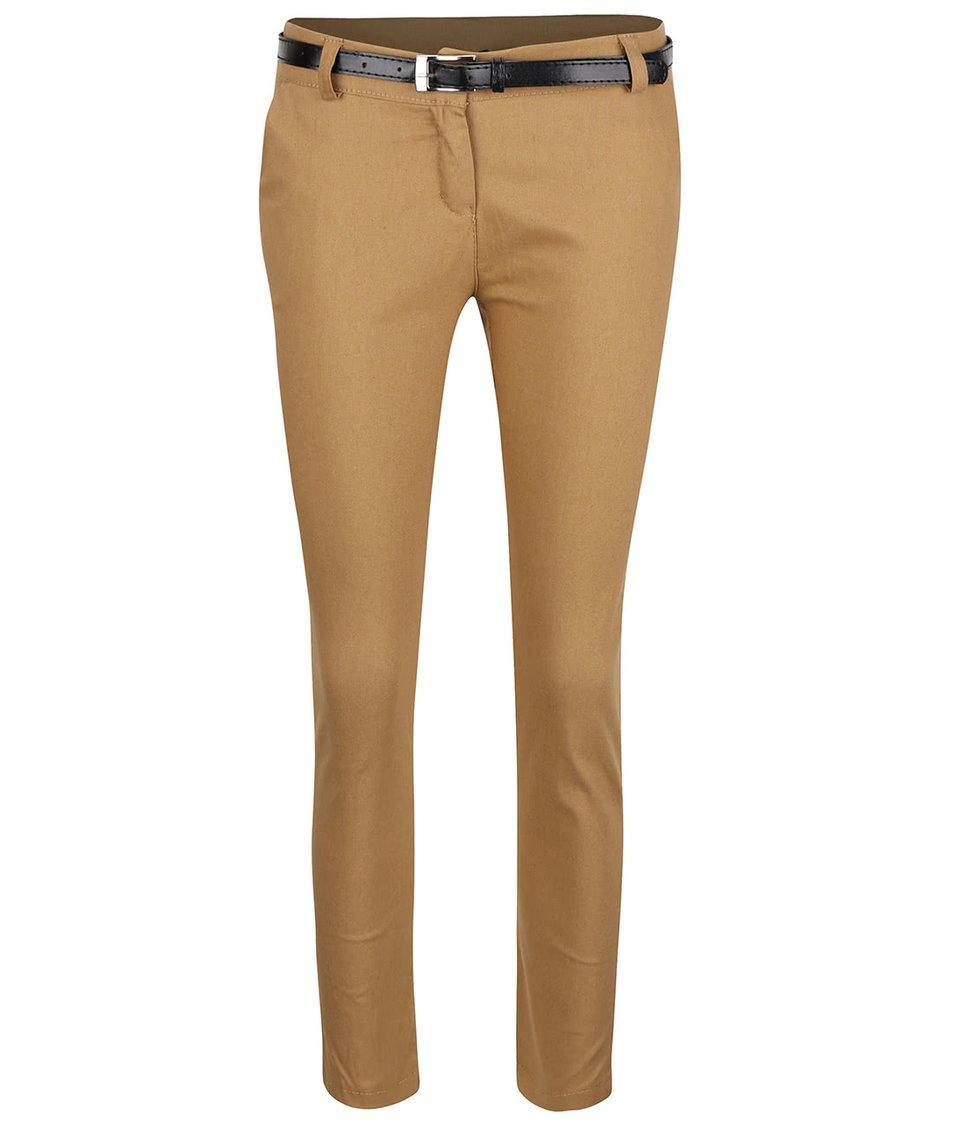 Béžové osminkové kalhoty s páskem Haily´s Patty