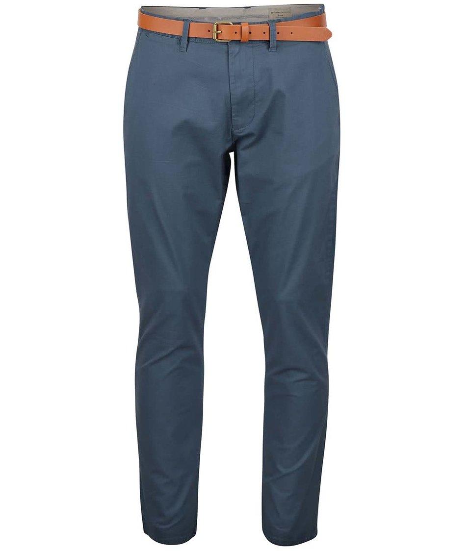 Šedomodré chino kalhoty Selected Homme Yard