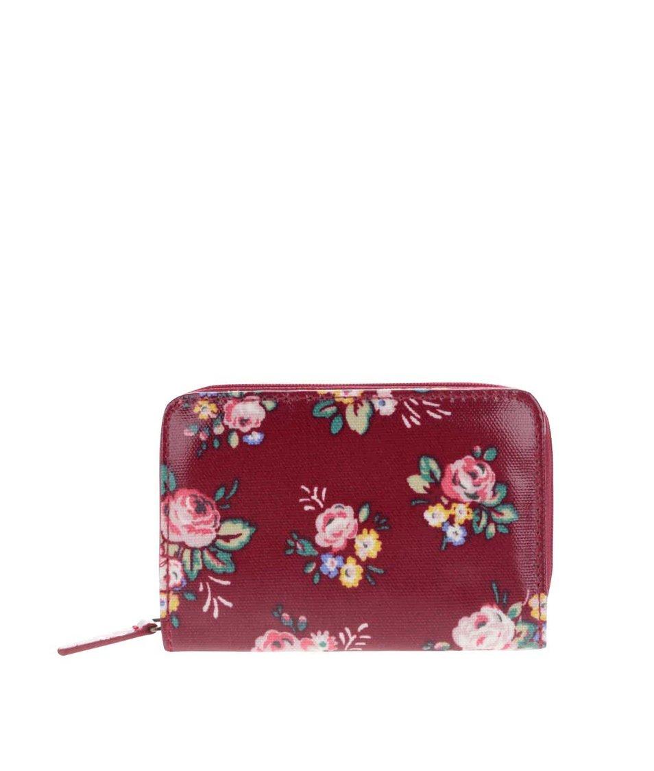Červená peněženka na zip s květinami Cath Kidston
