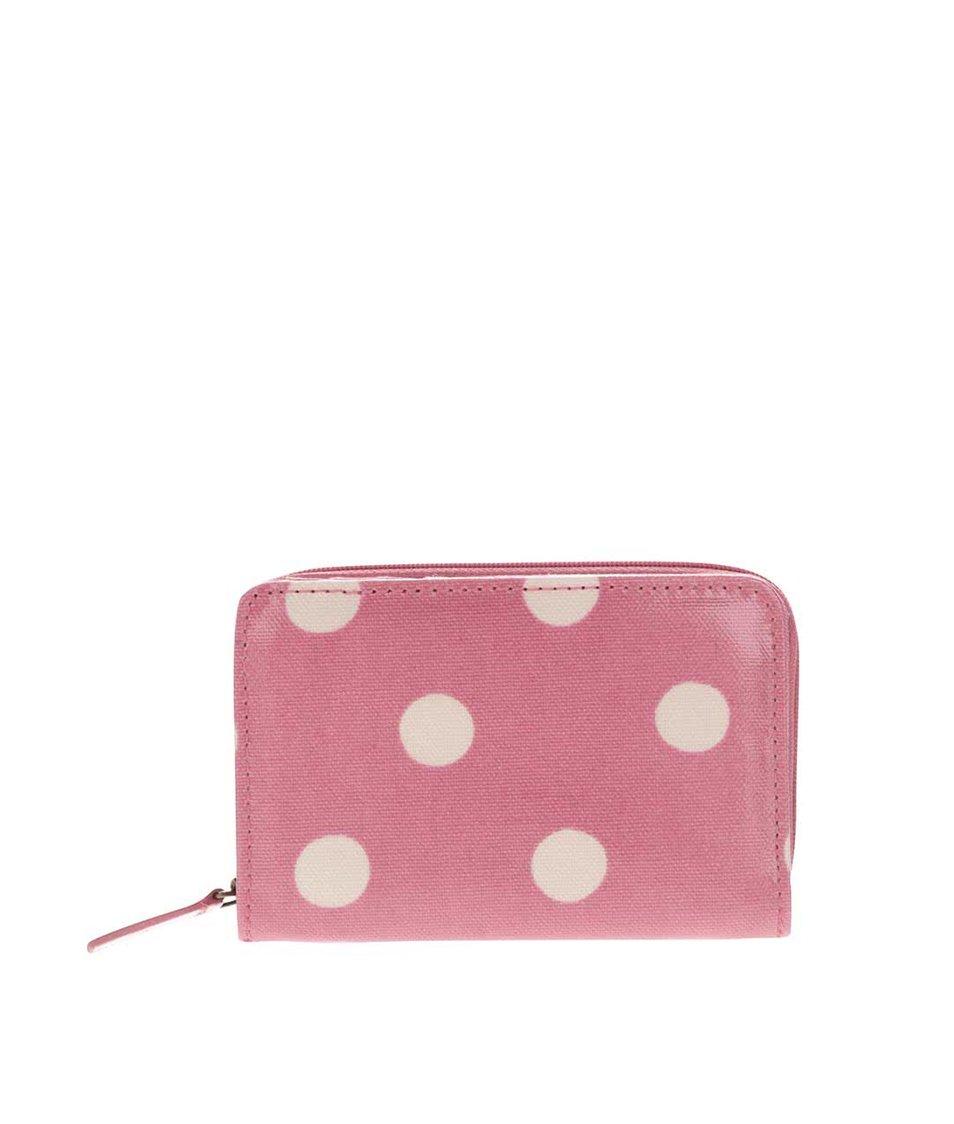 Růžová peněženka na zip s puntíky Cath Kidston