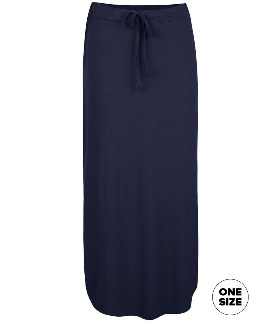 Tmavě modrá midi sukně ZOOT simple