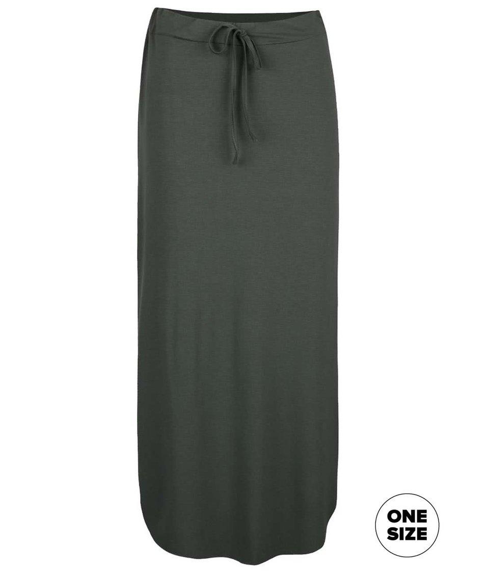 Olivově zelená midi sukně ZOOT simple