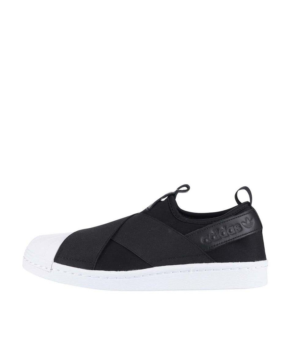 Bílo-černé dámské slip on tenisky adidas Originals Superstar